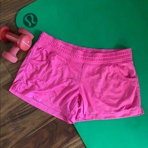 Nike pink mesh shorts L with pockets EUC